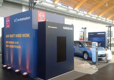 Aufbau Nissan Messe Friedrichshafen
