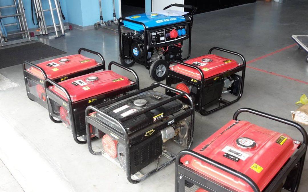 Neue Stromaggregate in der Vermietung