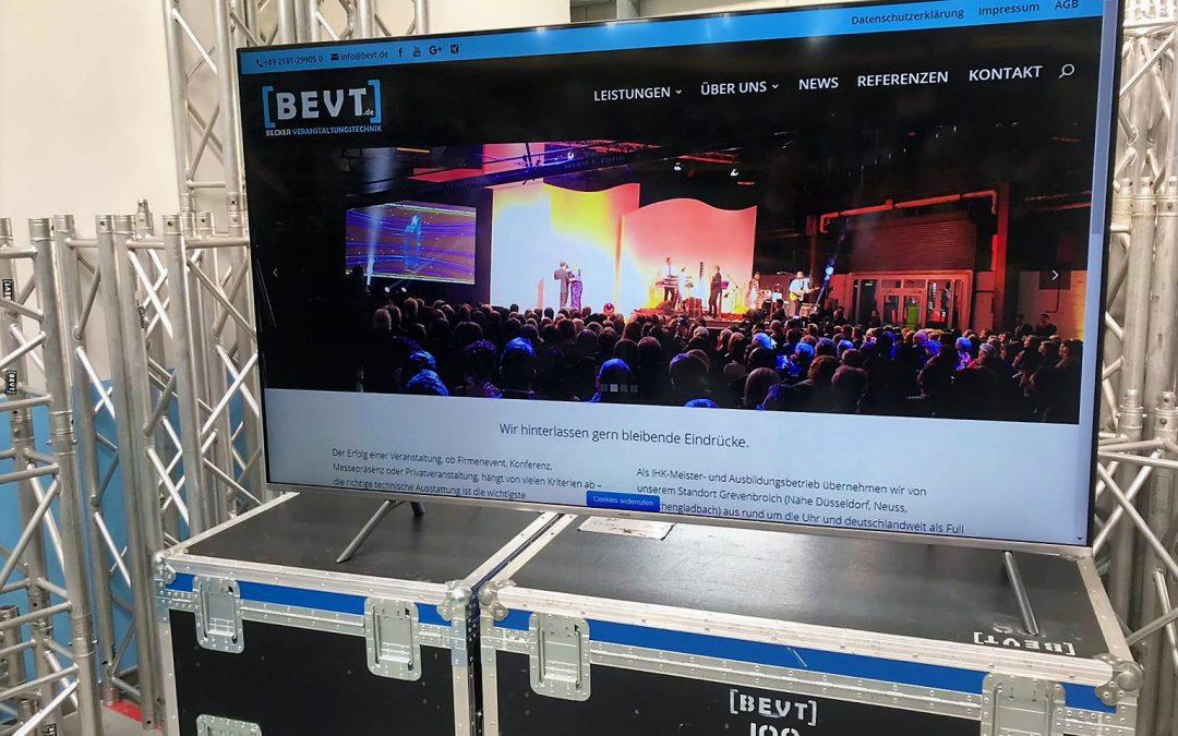 Neu in der Vermietung! Samsung 82″ LED 4K UHD Displays